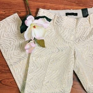 Limited 0 Drew gold cream zebra print ankle pants